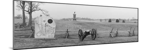 Cannons and Fence at Gettysburg Battlefield-Greg-Mounted Photographic Print
