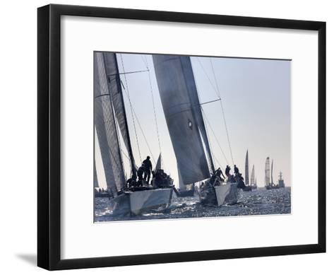 An International Yachting Race Near Victoria, British Columbia-Pete Ryan-Framed Art Print