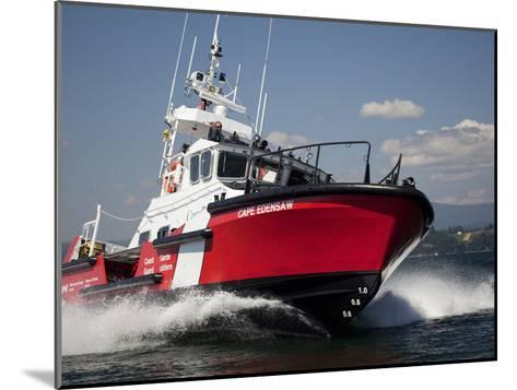A 47-Ft Lifeboat of the Canadian Coast Guard Plies the Ocean Waters-Pete Ryan-Mounted Photographic Print