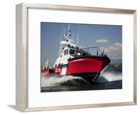 A 47-Ft Lifeboat of the Canadian Coast Guard Plies the Ocean Waters-Pete Ryan-Framed Art Print