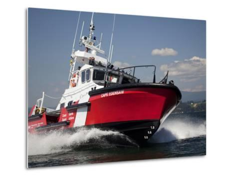 A 47-Ft Lifeboat of the Canadian Coast Guard Plies the Ocean Waters-Pete Ryan-Metal Print