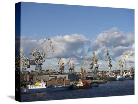 St. Petersburg Commercial Harbor-Keenpress-Stretched Canvas Print