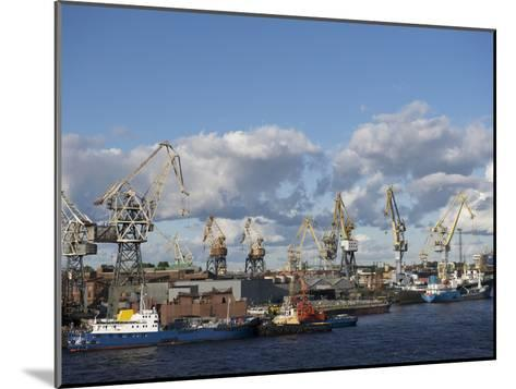 St. Petersburg Commercial Harbor-Keenpress-Mounted Photographic Print