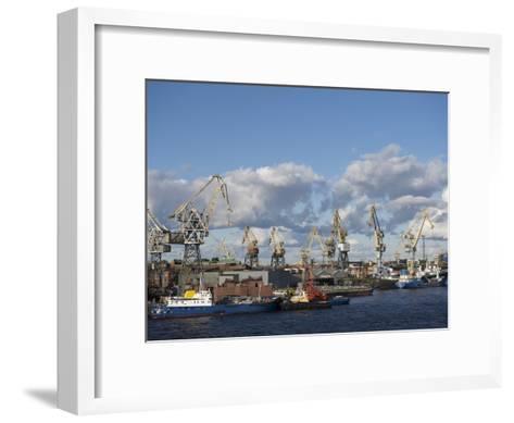 St. Petersburg Commercial Harbor-Keenpress-Framed Art Print