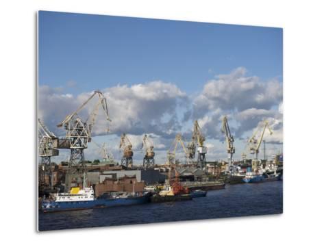 St. Petersburg Commercial Harbor-Keenpress-Metal Print