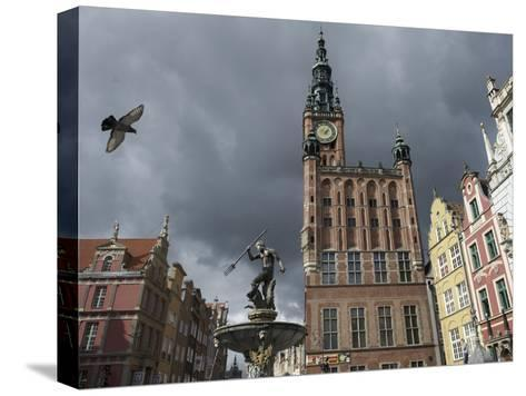 The Neptune Fountain in Gdansk's Main Thoroughfare, the Royal Way-Keenpress-Stretched Canvas Print