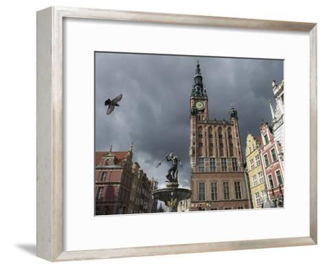 The Neptune Fountain in Gdansk's Main Thoroughfare, the Royal Way-Keenpress-Framed Art Print