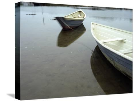 Dories at Low Tide-Raul Touzon-Stretched Canvas Print