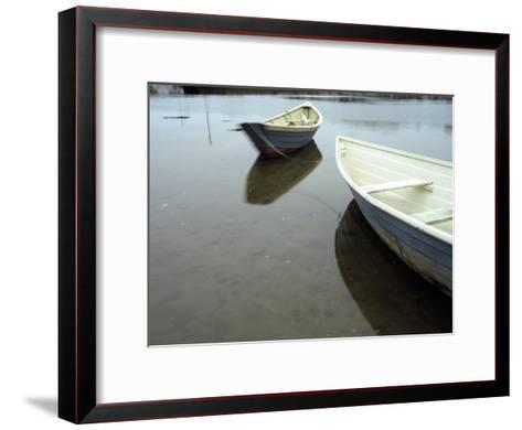 Dories at Low Tide-Raul Touzon-Framed Art Print
