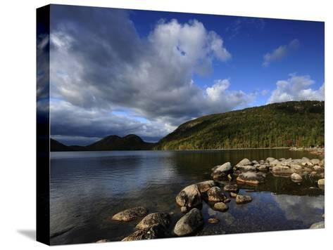 Jordan Pond in the Fall-Raul Touzon-Stretched Canvas Print