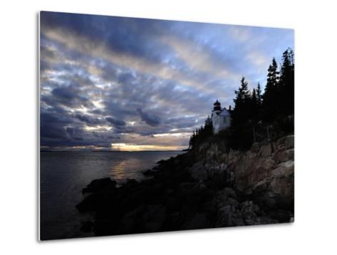 A Moody Sky over Bass Harbor Head Lighthouse at Sunset-Raul Touzon-Metal Print