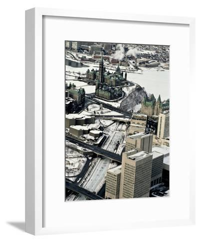 An Aerial View of Central Ottawa Including Parliament Hill and Canal-Kenneth Ginn-Framed Art Print
