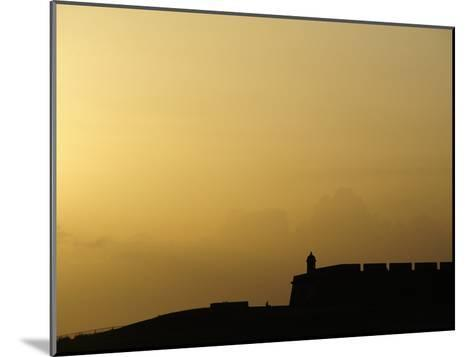Morro Fortress Silhouetted Against a Sunset Sky-Raul Touzon-Mounted Photographic Print