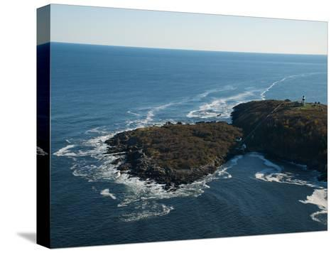 Aerial of the Lighthouse on Seguin Island, Maine-Heather Perry-Stretched Canvas Print