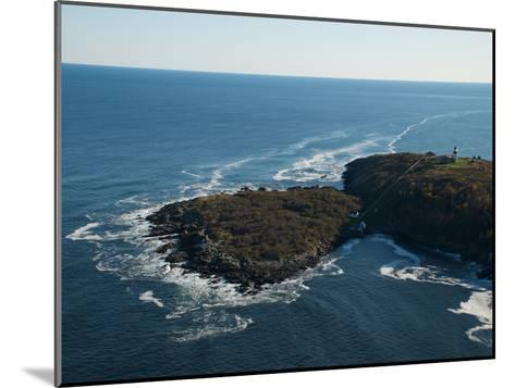 Aerial of the Lighthouse on Seguin Island, Maine-Heather Perry-Mounted Photographic Print