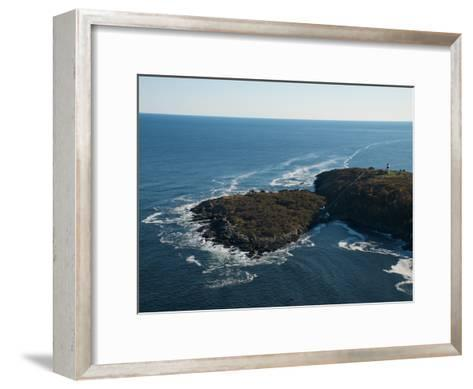 Aerial of the Lighthouse on Seguin Island, Maine-Heather Perry-Framed Art Print