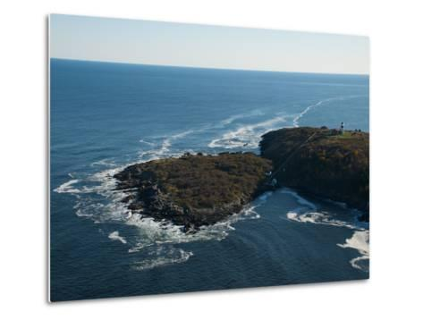Aerial of the Lighthouse on Seguin Island, Maine-Heather Perry-Metal Print