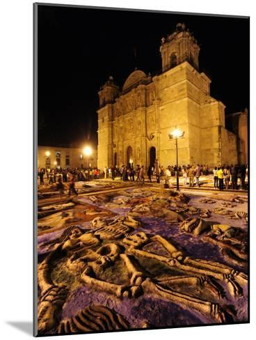 Sand Sculptures in Front of the Cathedral on the Day of the Dead-Raul Touzon-Mounted Photographic Print