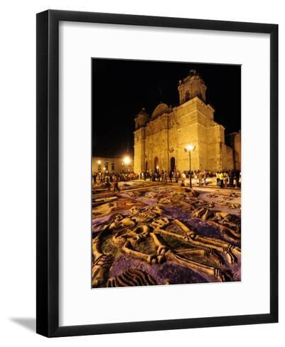 Sand Sculptures in Front of the Cathedral on the Day of the Dead-Raul Touzon-Framed Art Print