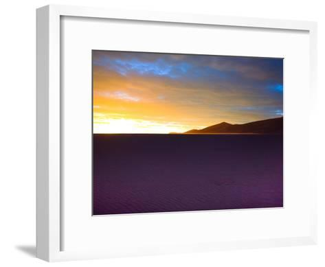 The Sunset Lights Up Sand Blowing across the Colorado Dunes-Ben Horton-Framed Art Print