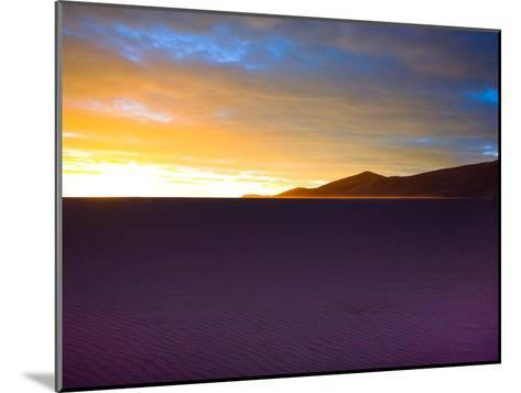 The Sunset Lights Up Sand Blowing across the Colorado Dunes-Ben Horton-Mounted Photographic Print