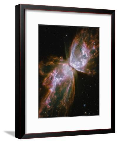A Dying Star in the Center of the Butterfly Nebula--Framed Art Print