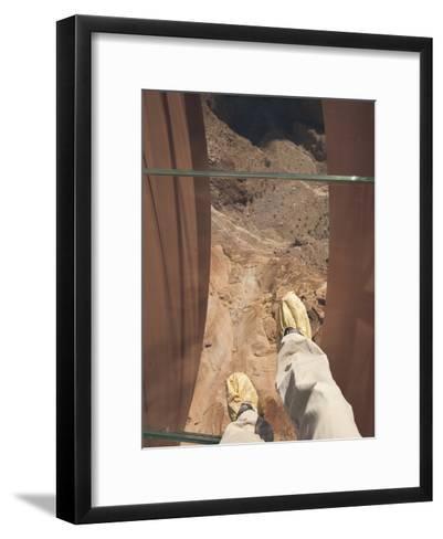 Walking over the Grand Canyon on a Glass Skywalk-John Burcham-Framed Art Print