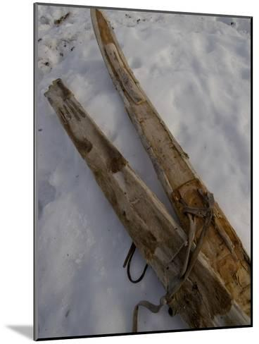 A Handmade Pair Skis with Reindeer Skins on the Bottom-Gordon Wiltsie-Mounted Photographic Print
