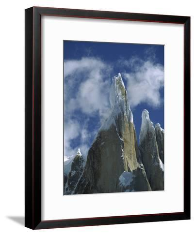 Cerro Torre, a Famous Rock and Ice Spire, Los Glaciares National Park, Patagonia, Argentina-Colin Monteath/Minden Pictures-Framed Art Print