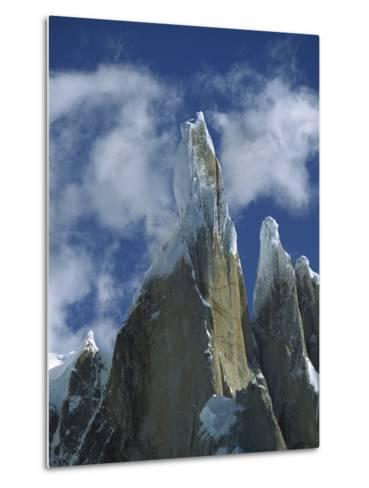 Cerro Torre, a Famous Rock and Ice Spire, Los Glaciares National Park, Patagonia, Argentina-Colin Monteath/Minden Pictures-Metal Print