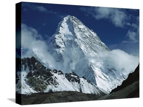 The North Face of K2 from K2 Glacier, 2nd Highest Peak in the World, Karakoram, Xinjiang, China-Colin Monteath/Minden Pictures-Stretched Canvas Print