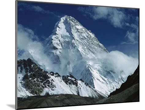 The North Face of K2 from K2 Glacier, 2nd Highest Peak in the World, Karakoram, Xinjiang, China-Colin Monteath/Minden Pictures-Mounted Photographic Print