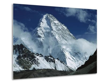 The North Face of K2 from K2 Glacier, 2nd Highest Peak in the World, Karakoram, Xinjiang, China-Colin Monteath/Minden Pictures-Metal Print