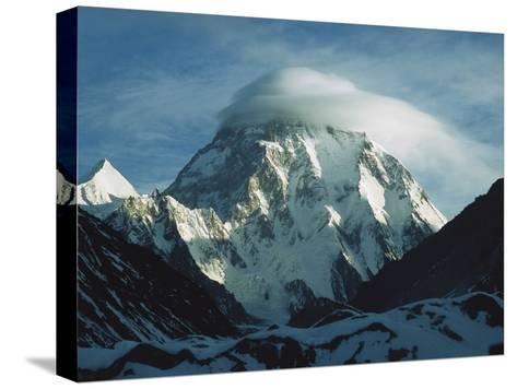 Wind Cloud over the Summit of K2, 2nd Highest Peak in the World, Karakoram Mountains, Pakistan-Colin Monteath/Minden Pictures-Stretched Canvas Print