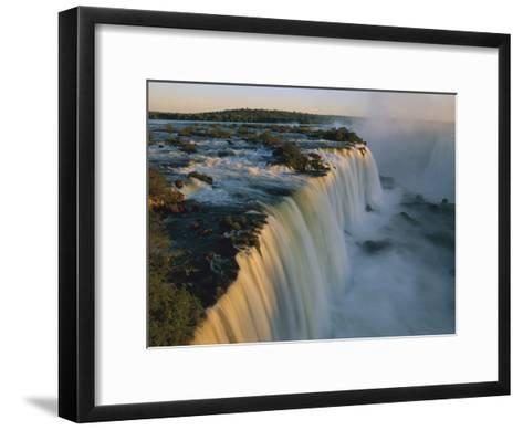 Cascades of Iguacu Falls, Iguacu Falls Nat'l Park, Brazil-Thomas Marent/Minden Pictures-Framed Art Print