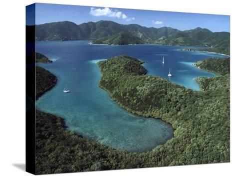 Aerial View of Hurricane Bay, Virgin Islands National Park, St John Island-Gerry Ellis-Stretched Canvas Print