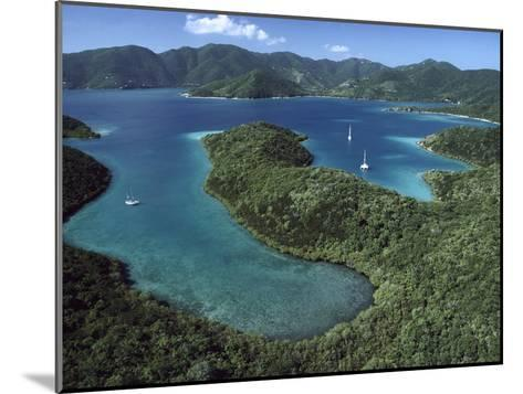 Aerial View of Hurricane Bay, Virgin Islands National Park, St John Island-Gerry Ellis-Mounted Photographic Print