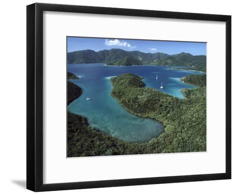 Aerial View of Hurricane Bay, Virgin Islands National Park, St John Island-Gerry Ellis-Framed Art Print