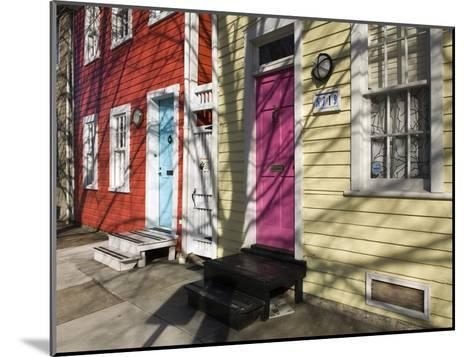 Colorful Houses on South Ann Street in the Fell's Point Neighborhood-Krista Rossow-Mounted Photographic Print