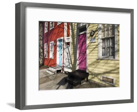 Colorful Houses on South Ann Street in the Fell's Point Neighborhood-Krista Rossow-Framed Art Print