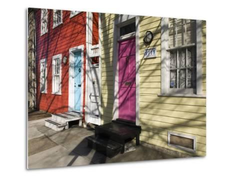 Colorful Houses on South Ann Street in the Fell's Point Neighborhood-Krista Rossow-Metal Print