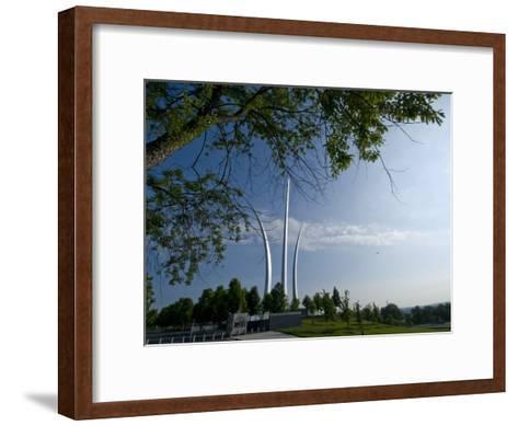 The Air Force Memorial in Arlington, Virginia-Brian Gordon Green-Framed Art Print