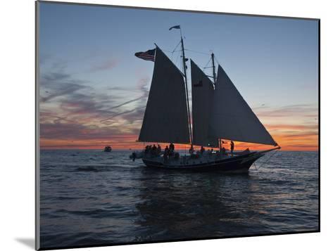 A Sailboat Off Grand Haven Pier on Lake Michigan at Twilight-Karen Kasmauski-Mounted Photographic Print