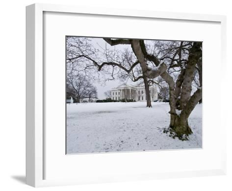 Snow on the White House Lawn-Brian Gordon Green-Framed Art Print