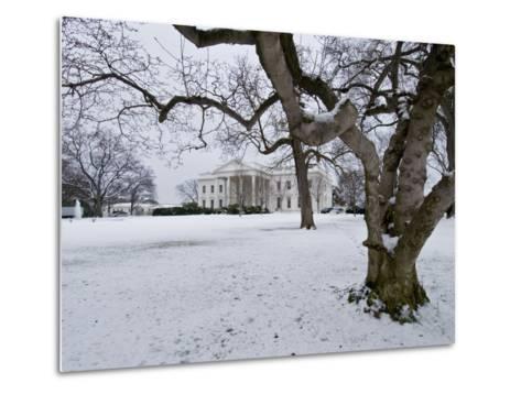 Snow on the White House Lawn-Brian Gordon Green-Metal Print