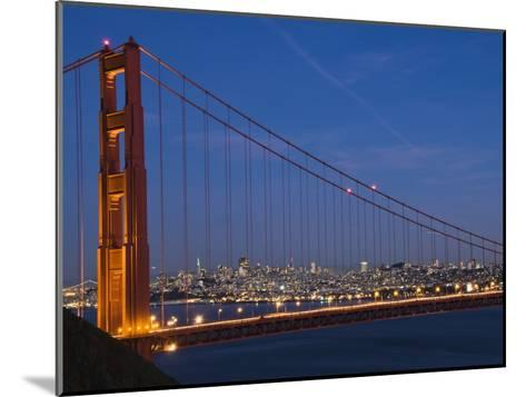 Golden Gate Bridge and San Francisco at Night-James Forte-Mounted Photographic Print