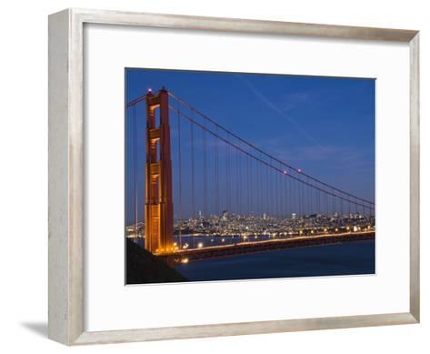 Golden Gate Bridge and San Francisco at Night-James Forte-Framed Art Print