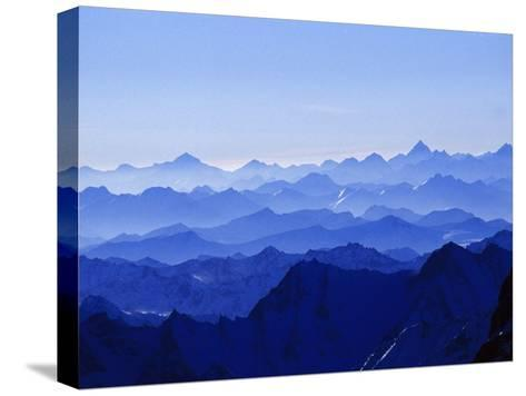 Mountains from High Above on Nanga Parbat During the Sunset Hours-Tommy Heinrich-Stretched Canvas Print