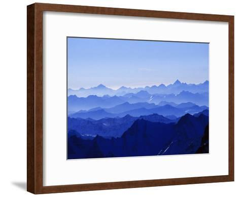 Mountains from High Above on Nanga Parbat During the Sunset Hours-Tommy Heinrich-Framed Art Print