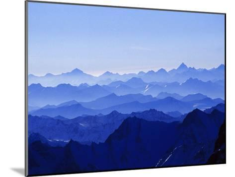 Mountains from High Above on Nanga Parbat During the Sunset Hours-Tommy Heinrich-Mounted Photographic Print